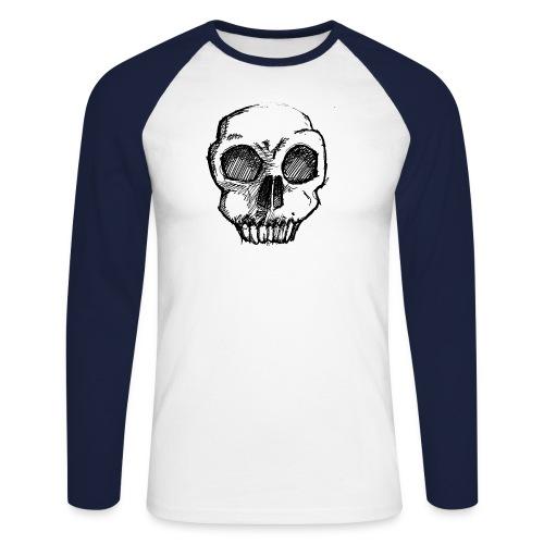 Skull sketch - Men's Long Sleeve Baseball T-Shirt