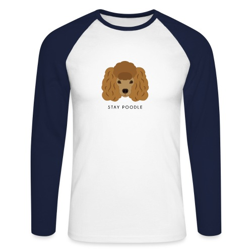 Poodle Brown - Maglia da baseball a manica lunga da uomo