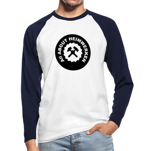 ALL ABOUT HEIMWERKEN - LOGO - Männer Baseballshirt langarm