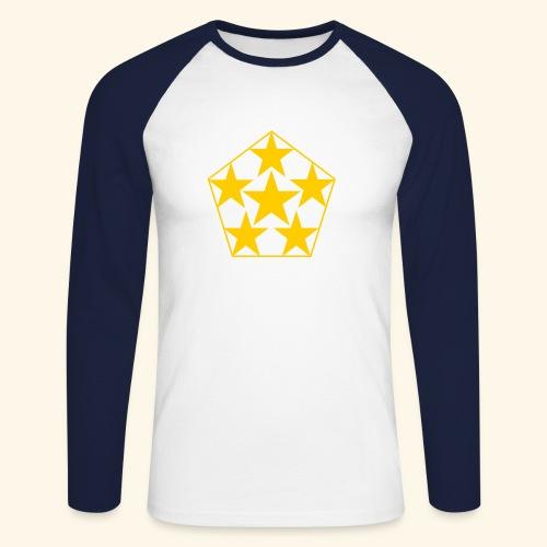 5 STAR gelb - Männer Baseballshirt langarm