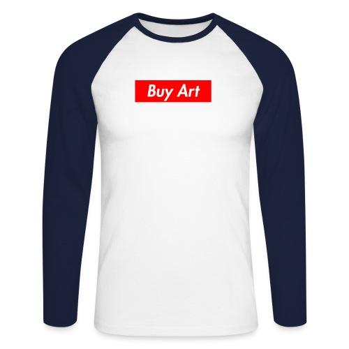 Buy Art Not Drugs - Miesten pitkähihainen baseballpaita