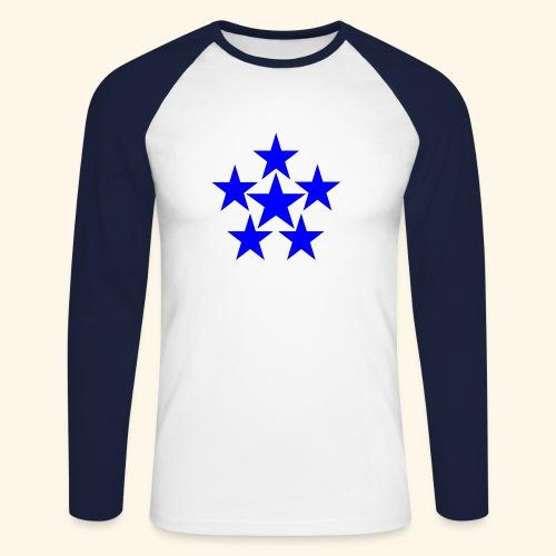 5 STAR blau - Männer Baseballshirt langarm