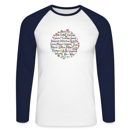 girly ABC book / abécédaire girly - T-shirt baseball manches longues Homme