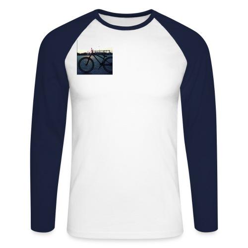 Motyw 2 - Koszulka męska bejsbolowa z długim rękawem