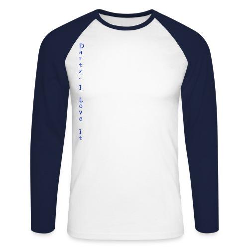 darts_i_love_it_blau_v - Männer Baseballshirt langarm