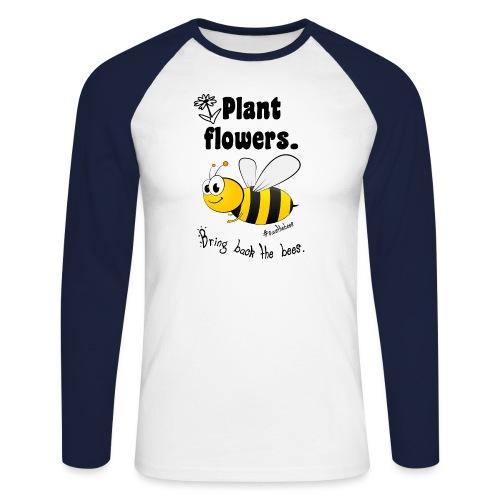 Bees8-2 Bringt die Bienen zurück! | Bookrebels - Men's Long Sleeve Baseball T-Shirt