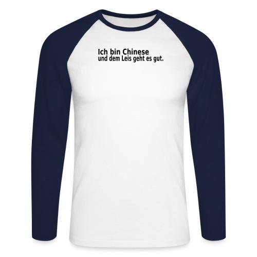 chinese China Reis - Männer Baseballshirt langarm