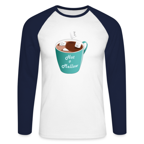 Hot & Mellow - foodcontest - Men's Long Sleeve Baseball T-Shirt