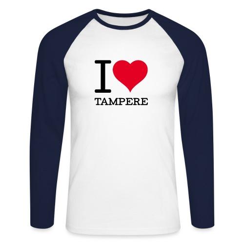I love Tampere - Miesten pitkähihainen baseballpaita
