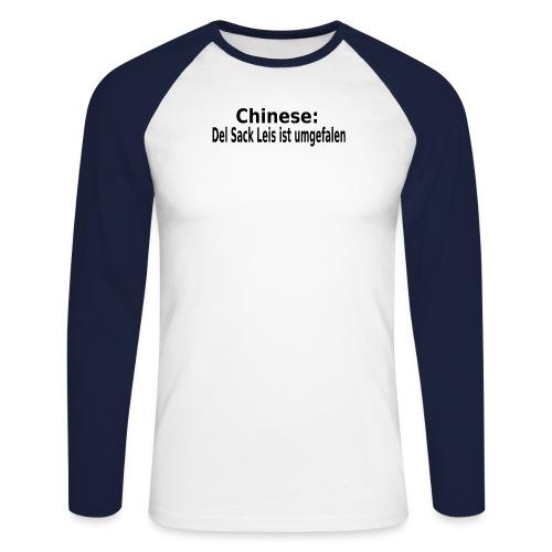 Sack Reis umgefallen - Männer Baseballshirt langarm
