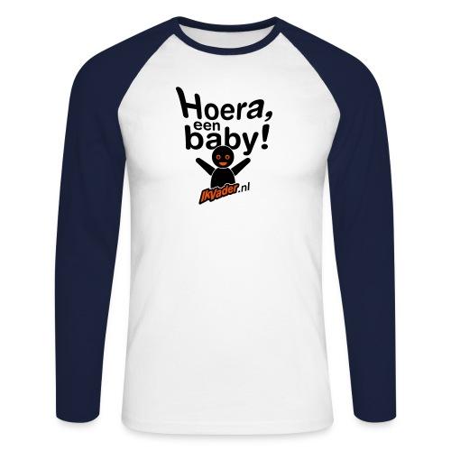 HoeraB distort2 - Mannen baseballshirt lange mouw