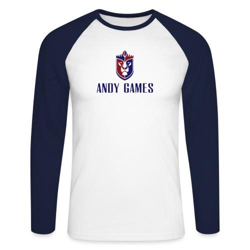 Logo AndyGames png - Mannen baseballshirt lange mouw