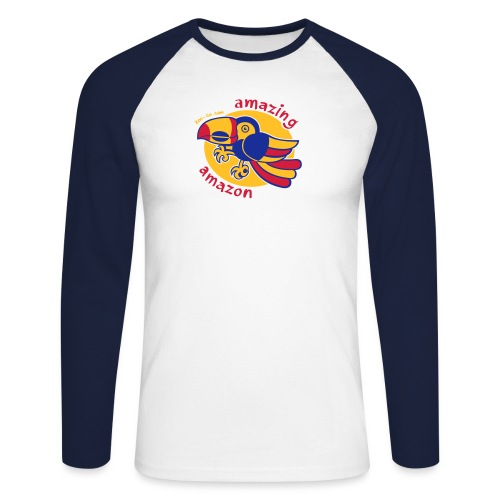Amazonian Toucan - Men's Long Sleeve Baseball T-Shirt