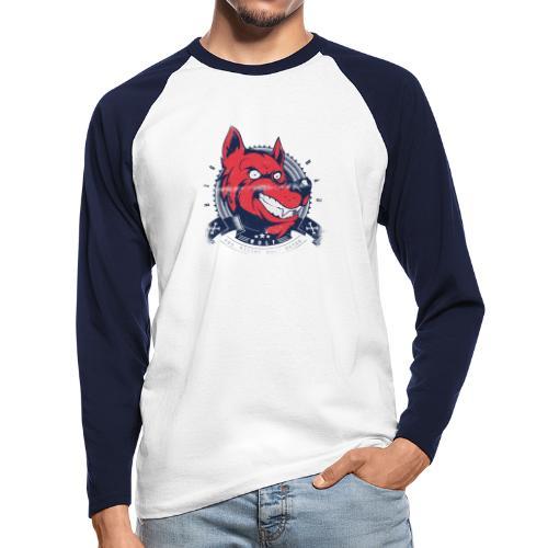 Wolf grin - Männer Baseballshirt langarm
