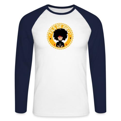 Fils de Dieu jaune - T-shirt baseball manches longues Homme