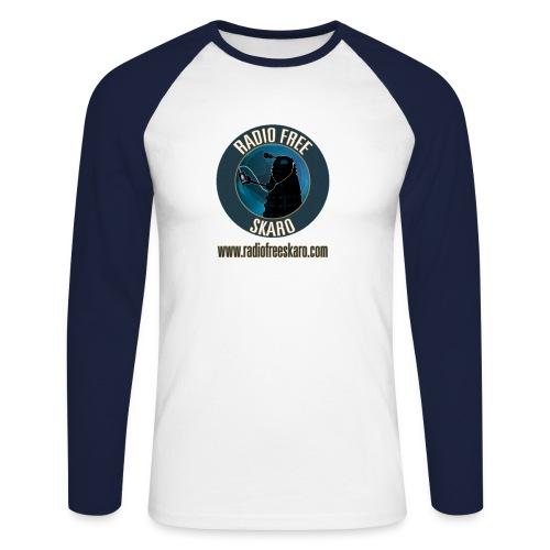 Radio Free Skaro Logo 2011 navy png - Men's Long Sleeve Baseball T-Shirt