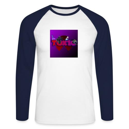 toxic paita - Miesten pitkähihainen baseballpaita