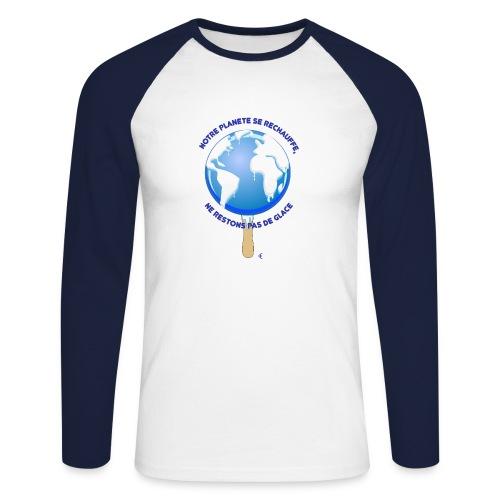 mondeglace - T-shirt baseball manches longues Homme