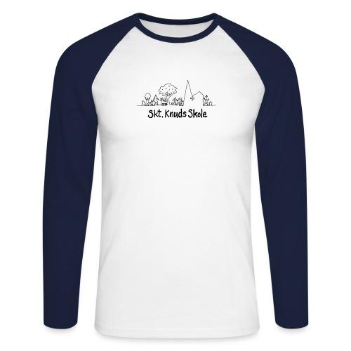 logo fra Skt Knuds Skole - Langærmet herre-baseballshirt
