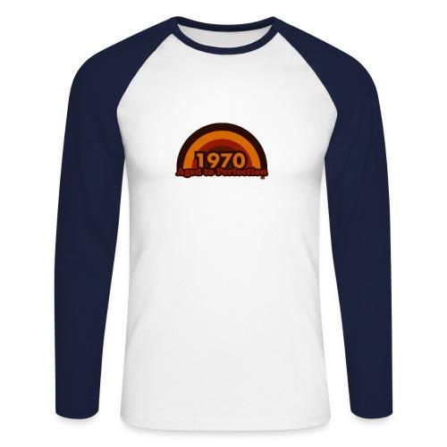 1970 aged to perfection 70tees - Männer Baseballshirt langarm