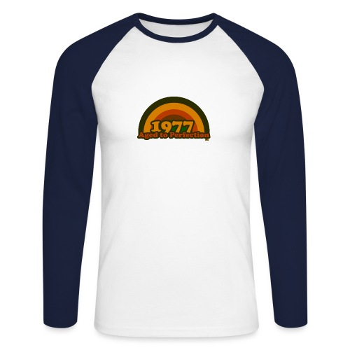 1977 aged to perfection cpr 70tees - Männer Baseballshirt langarm