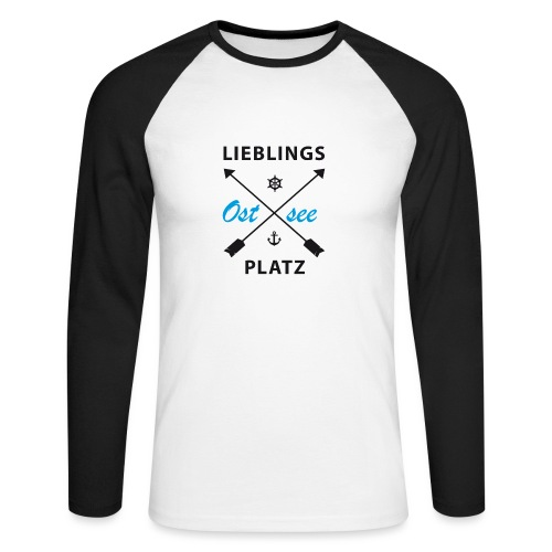 Lieblingsplatz Ostsee - Männer Baseballshirt langarm