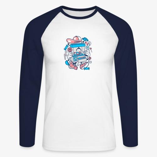 Kranmaschine - Männer Baseballshirt langarm