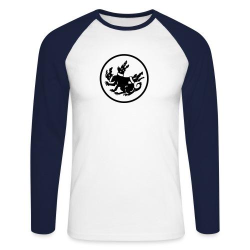 cerberus logo rund - Männer Baseballshirt langarm