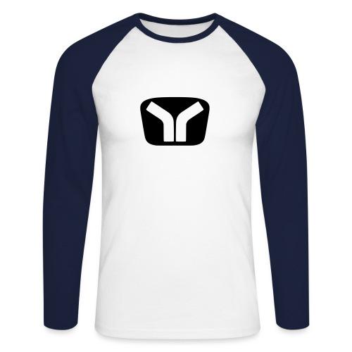 Yugo Logo Black-White Design - Men's Long Sleeve Baseball T-Shirt