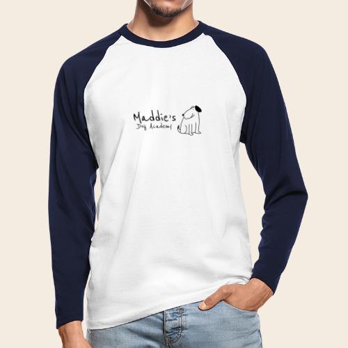 Académie des chiens de Maddie (noir) - T-shirt baseball manches longues Homme
