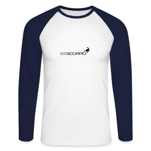 scorpio logo - Mannen baseballshirt lange mouw