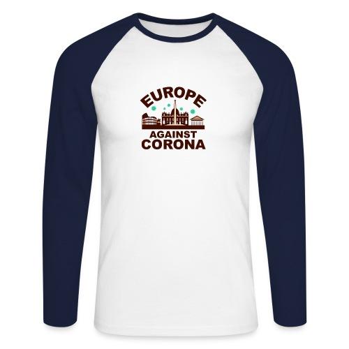Europa against Corona - Männer Baseballshirt langarm