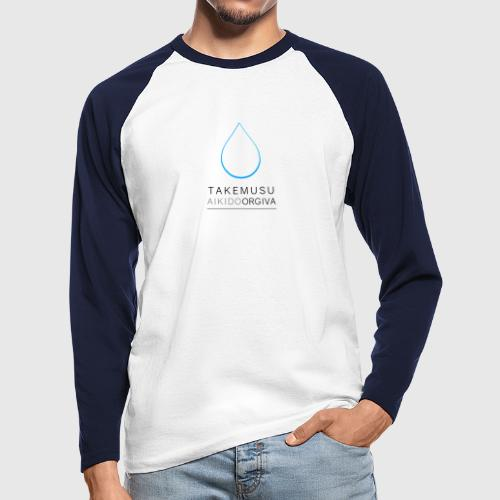Takemusu Aikido Orgiva - Blue Water Drop - Men's Long Sleeve Baseball T-Shirt