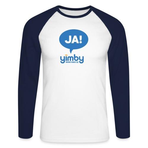 Yimby.se-logotyp med JA! - Långärmad basebolltröja herr
