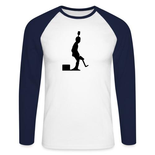 Pro Kicker (regular) + Nummer - Männer Baseballshirt langarm