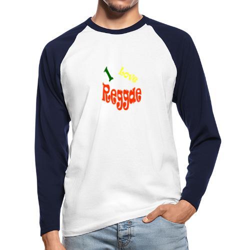 I Love Reggae - Mannen baseballshirt lange mouw