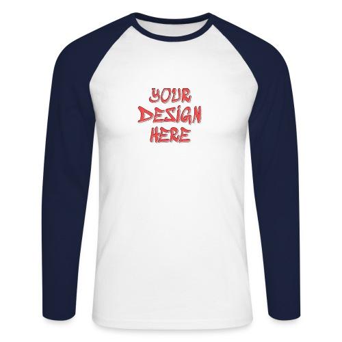 TextFX - Men's Long Sleeve Baseball T-Shirt