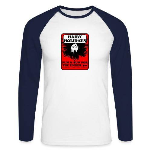 Hairy Holidays - Men's Long Sleeve Baseball T-Shirt