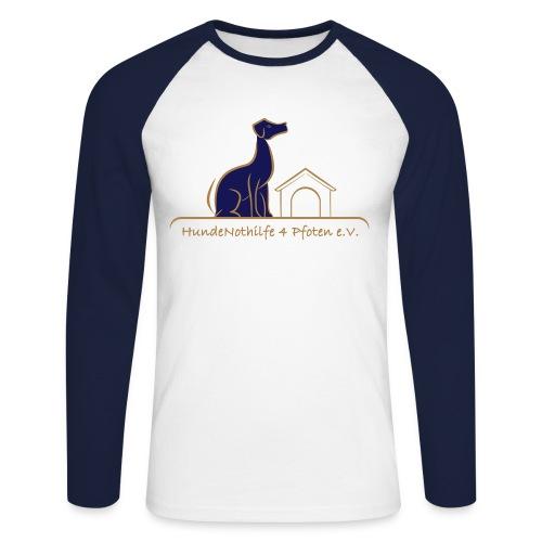 HundeNothilfe Logo - Männer Baseballshirt langarm