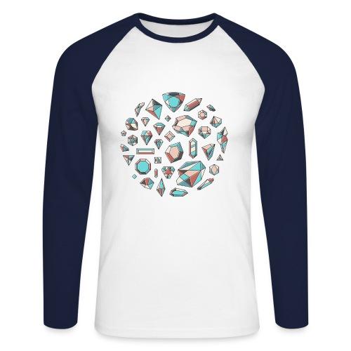 37 diamond shapes 03 jpg - Langermet baseball-skjorte for menn