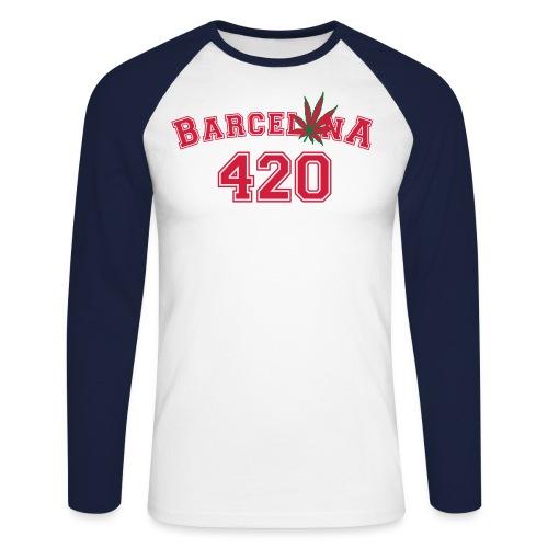 Barcelonaleaf 420 - Men's Long Sleeve Baseball T-Shirt