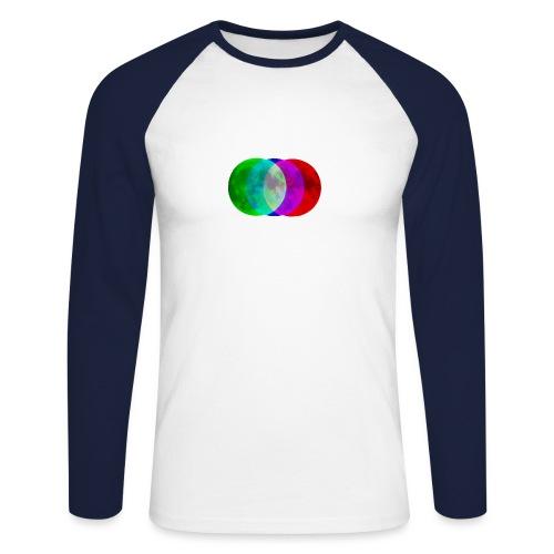 RGB moon - Koszulka męska bejsbolowa z długim rękawem