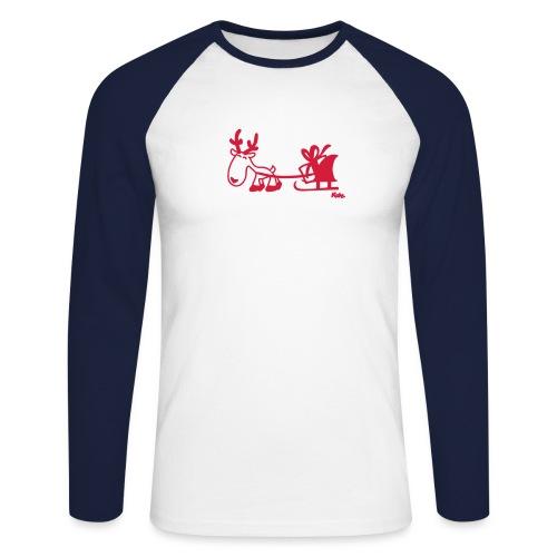 Rentierschlitten - Männer Baseballshirt langarm