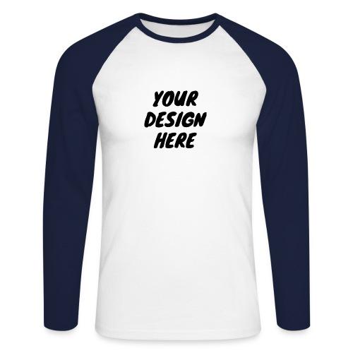 print file front 9 - Men's Long Sleeve Baseball T-Shirt