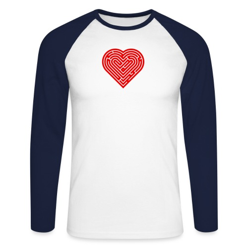 Labyrinth Heart - Men's Long Sleeve Baseball T-Shirt