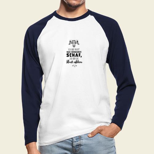 Schwarzes Schaf - white edition - Männer Baseballshirt langarm
