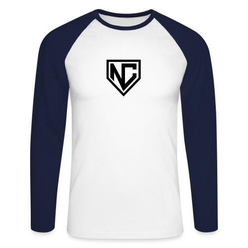logo nc - Männer Baseballshirt langarm