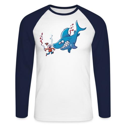 Sharks are Furious, Stop Finning! - Men's Long Sleeve Baseball T-Shirt