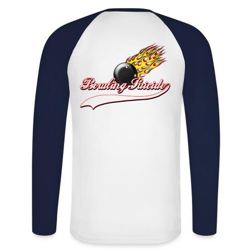 Bowling Suicide Flames - Männer Baseballshirt langarm