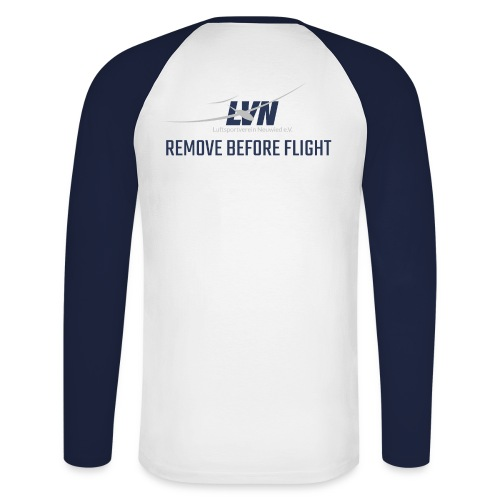 remove before flight - Männer Baseballshirt langarm